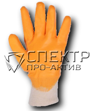 ХБ нитриловые с полным покрытием-лайт, желтые, манжета-резинка (Китай)