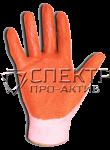 Перчатки латексные  ХБ с одинарным латексным покрытием (Россия)