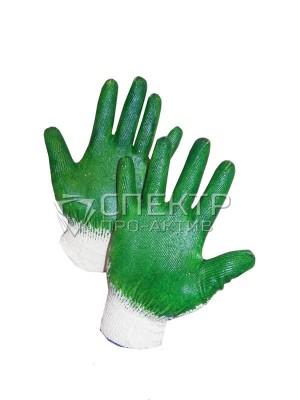 Перчатки  ХБ с двойным латексным покрытием , 10 класс