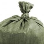 Полипропиленовый мешок, зеленый (35-40кг), размер 55x95 см