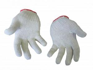 Перчатки ХБ без ПВХ, 7 класс вязки, вес 25-28 гр