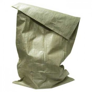 Мешки полипропиленовые, зеленые (35-40кг), размер 45x65 см