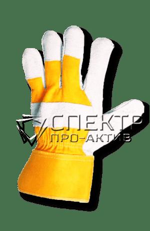 Перчатки кожаные комбинированные (Спилк+текстиль+кожа)