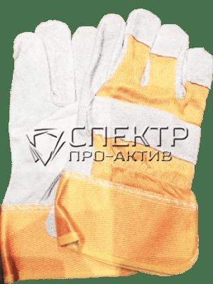 Перчатки комбинированные (спилок+текстиль)