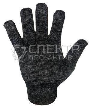 Перчатки полушерстяные одинарные