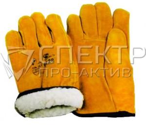 Перчатки спилковые цельнокройные