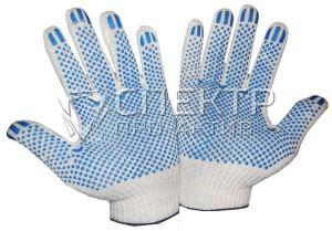 Перчатки ХБ с ПВХ, 10 класс вязки