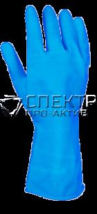Резиновые опудренные перчатки в индивидуальной упаковке
