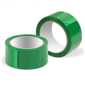 Скотч упаковочный цветной 48мм x 50м (зелёный)