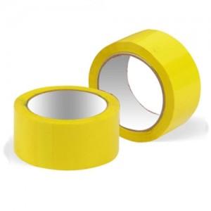 Скотч упаковочный цветной 48мм x 50м (желтый)